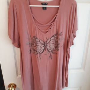 Plus size butterfly tee